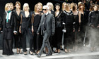 Karl Lagerfeld at Paris fashion week