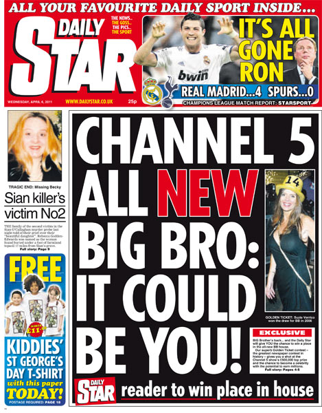 Big Brother: Daily Star runs housemate contest as show's ... Daily Star