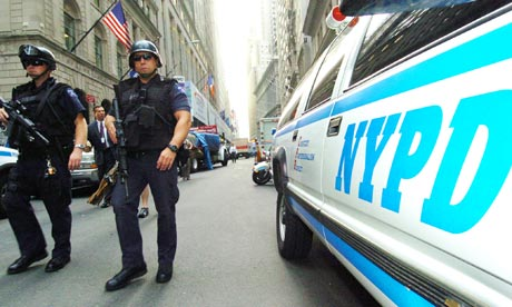 NYPD Patrol Wall Street in New York