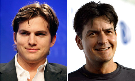 ashton kutcher two and a half men character. Ashton Kutcher and Charlie