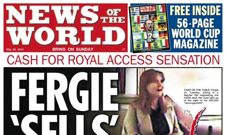 News of the World's Fergie scoop