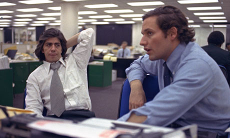 Carl Bernstein and Bob Woodward in 1973