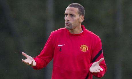 Rio Ferdinand in training