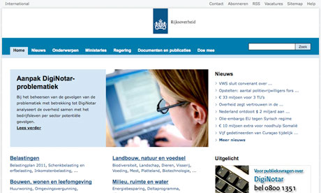 The Dutch government has revoked all trust in digital certificates issued by DigiNotar
