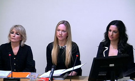 Leveson inquiry: Lucie Cave, Rosie Nixon and Lisa Byrne