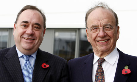 Alex Salmond and Rupert Murdoch