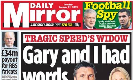 Daily Mirror- January 2012
