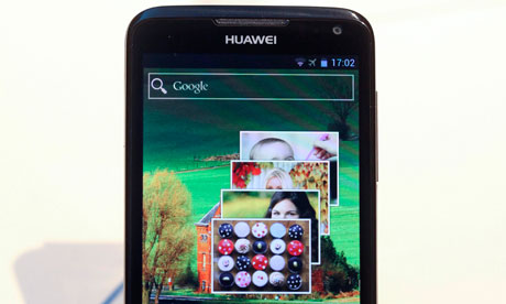 Huawei Ascend D mobile phone, which runs on the Android 4.0 operating system
