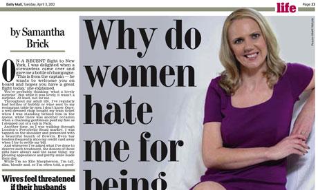 Daily Mail's Samantha Brick story