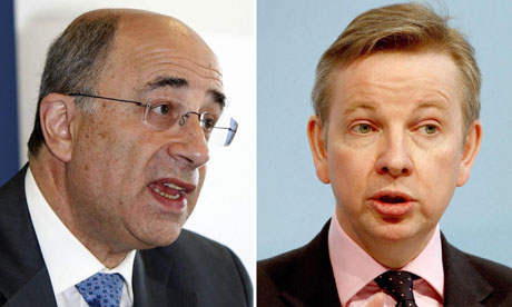 Lord Justice Leveson and Michael Gove