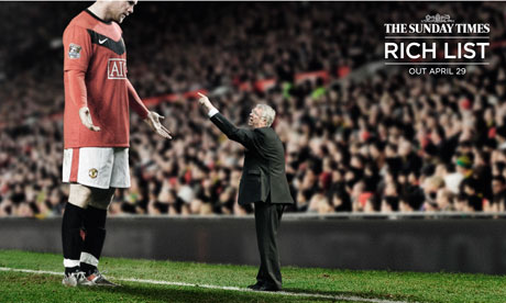 Wayne Rooney poster for Sunday Times Rich List