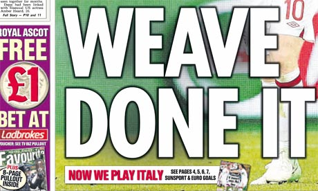 Sun Euro 2012 front page