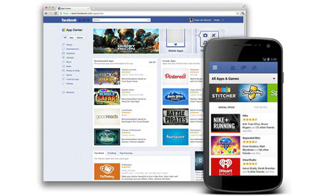 Facebook app store launches