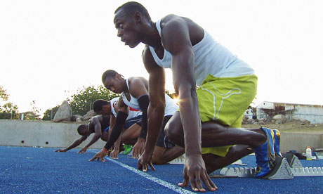 Gold standard … Usain Bolt in the documentary Fastest Man Alive.