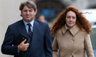 Charlie and Rebekah Brooks arrive at the Old Bailey