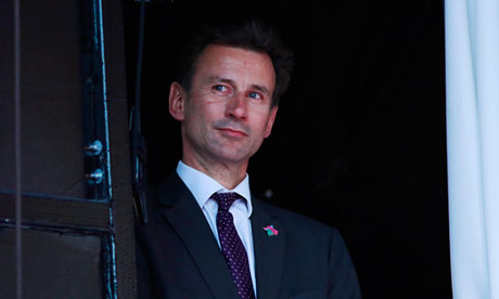Jeremy Hunt, Secretary of State for Culture, Olympics, Media and Sport,