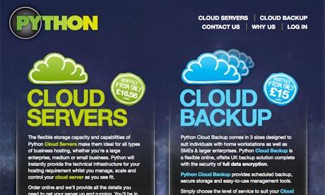 Python cloud services website