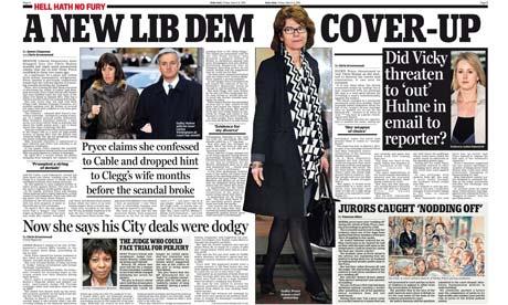 Daily Mail - Vicky Pryce spread