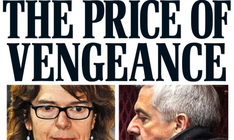 Daily Mail - Vicky Pryce front page