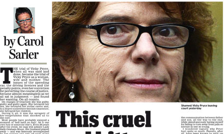 Daily Mail - Vicky Pryce comment