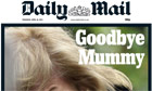 Trail Thatcher funeral: Daily Mail