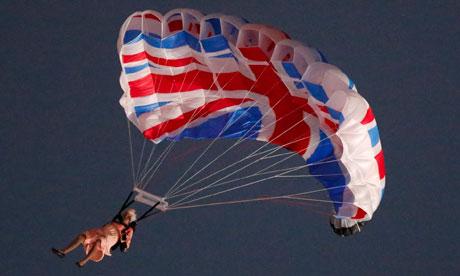 London Olympics: Queen Elizabeth stunt