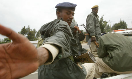 Ethiopian police stop journalists taking pictures in Addis Ababa
