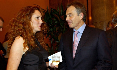 Rebekah Brooks and Tony Blair in 2004. Photograph: Fiona Hanson/PA