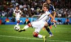 World Cup final: Mario Götze scores for Germany  against Argentina