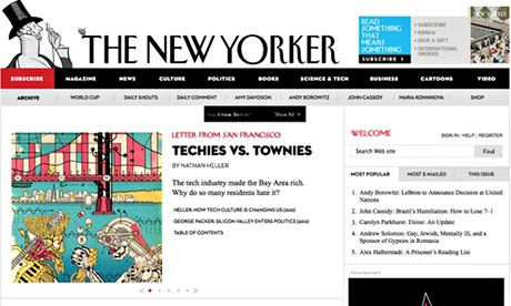 New Yorker website - July 2014