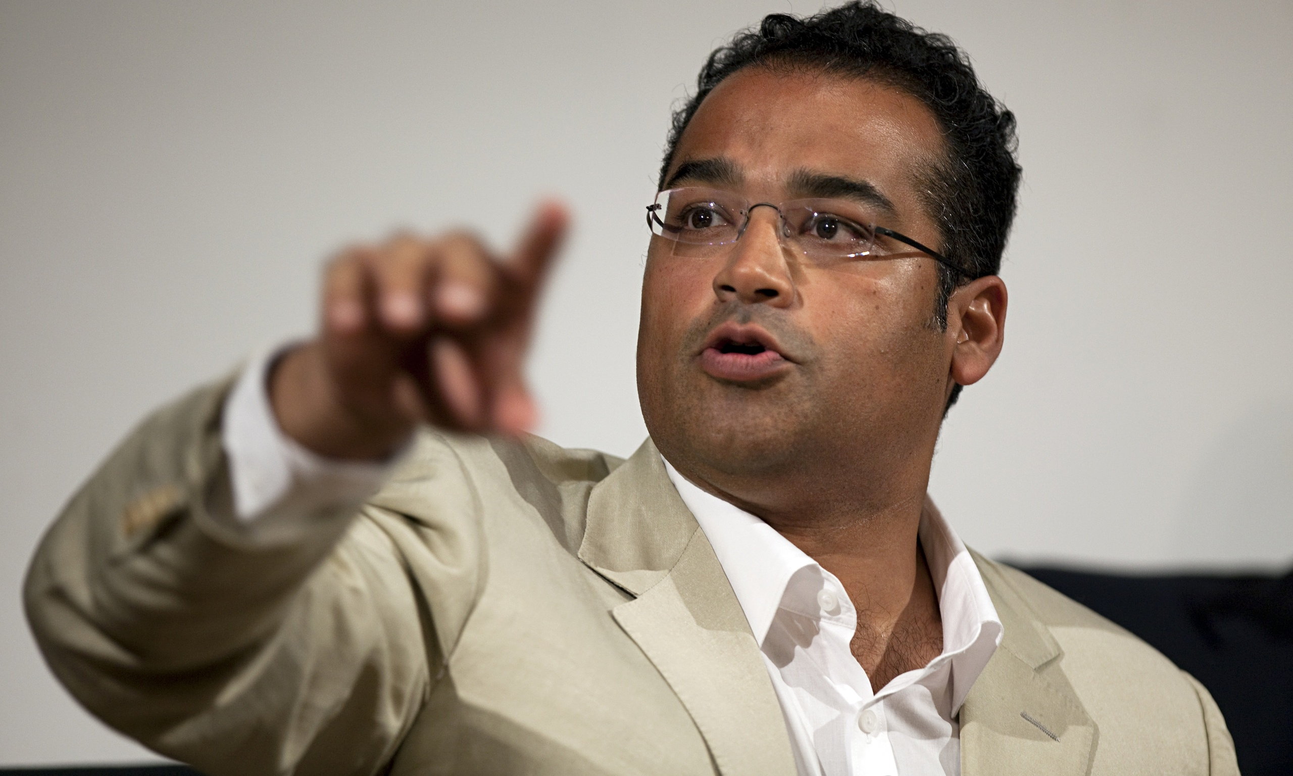 Krishnan Guru-Murthy talks tough again at slap-happy Edinburgh TV.