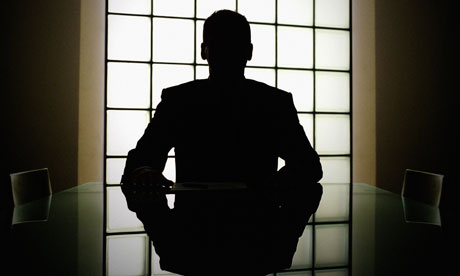 boardroom silhouette businessman
