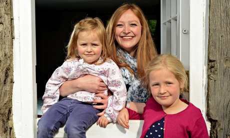Rebecca Fletcher with Cecilia, 5 and Felicity, 2