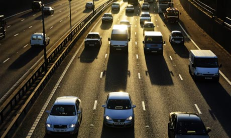 Cars driving along the M60 orbital motorway