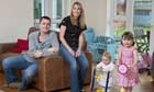 Pre-budget report case study: Mark Golesworth with his wife Sarah and daughters Lana and Tilly