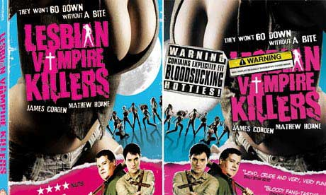 Lesbian Vampire Killers covers, uncensored and censored