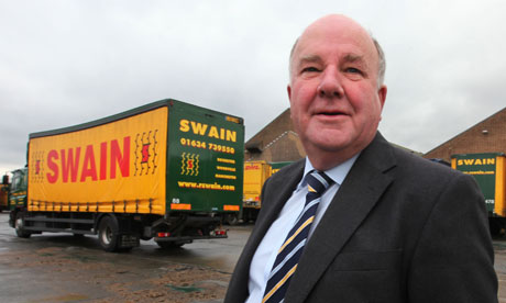 Bob swain, CEO of Swains haulage