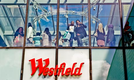 Shoppers at Westfield Shopping Center