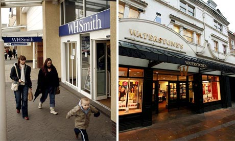 WH Smith and Waterstone's shop fronts