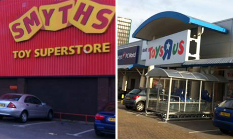 Smyths and Toys R Us shopfronts
