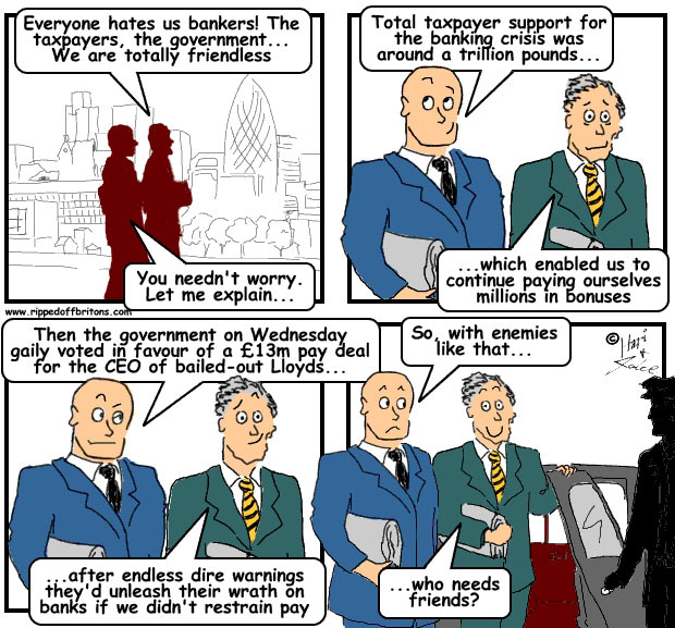 Ripped-off Britons: Lloyds bankers