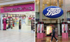 Superdrug and Boots stores