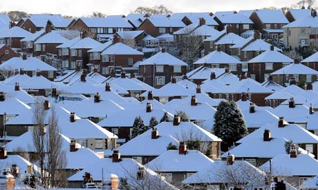 Snow capped roofs
