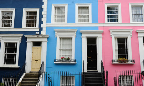 A row of terraced houses in west London