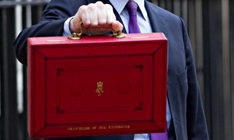 Chancellor George Osborne holds the dispatch box