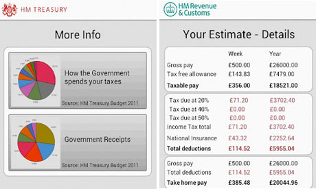 HMRC tax calc app