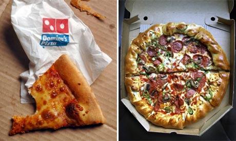 Domino's and Pizza Hut pizzas