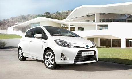 The Toyota Yaris hybrid