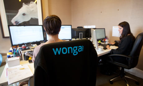 Wonga staff in their London office
