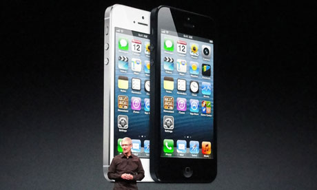 Apple CEO Tim Cook unveils the iPhone 5